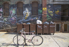 Graffiti at East Williamsburg neighborhood in Brooklyn, New York Stock Photography