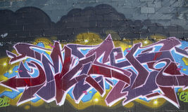 Graffiti at East Williamsburg neighborhood in Brooklyn, New York Royalty Free Stock Image