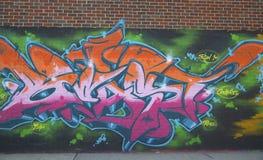 Graffiti at East Williamsburg neighborhood in Brooklyn, New York Royalty Free Stock Photo