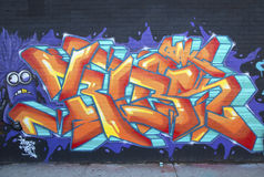 Graffiti at East Williamsburg neighborhood in Brooklyn, New York Stock Images