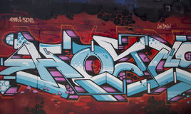 Graffiti at East Williamsburg neighborhood in Brooklyn, New York Royalty Free Stock Photos