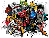 Graffiti elements Royalty Free Stock Images