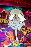 Graffiti Elephant Stock Image