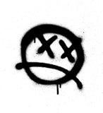 Graffiti emoticon face sprayed in black on white. Graffiti emoticon face sprayed in black over white Royalty Free Stock Image