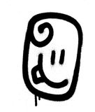 Graffiti emoticon happy  face sprayed in black on white. Graffiti emoticon happy  face sprayed in black over white Royalty Free Stock Photos