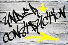Graffiti - en construction Photo libre de droits
