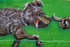 Graffiti en Grèce Images libres de droits