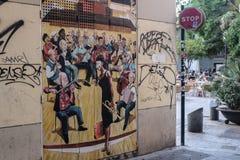 Graffiti en voisinage de Carmen à Valence, Espagne Image libre de droits