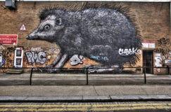 Graffiti est de Londres images libres de droits