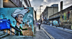Graffiti est de Londres Photos libres de droits