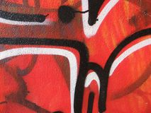 Graffiti et étiquettes Image stock