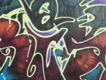 Graffiti et étiquettes Photo libre de droits