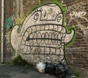 Graffiti et déchets à Londres Images stock