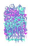Graffiti etykietka Zdjęcia Stock