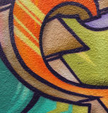Graffiti extreme closeup Royalty Free Stock Image