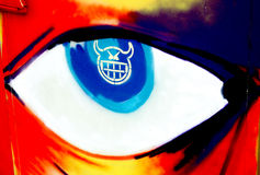 Graffiti eye Stock Photography