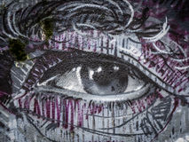 Graffiti eye Royalty Free Stock Photography