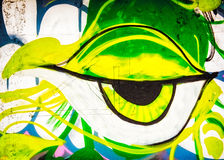 Graffiti Eye Stock Image