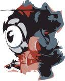 Graffiti Eyeball Stock Image