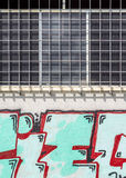 Graffiti on the facade of an abandoned warehouse Royalty Free Stock Photography