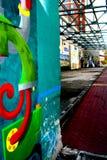 Graffiti faisant le coin à Richmond image libre de droits