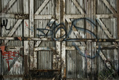Graffiti Fence Stock Images