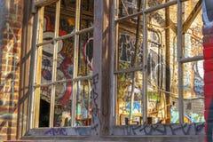 Graffiti-Fenster lizenzfreies stockbild
