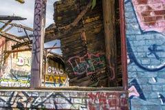 Graffiti-Fenster lizenzfreies stockfoto