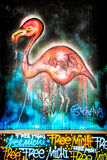 Graffiti Flamingo Royalty Free Stock Images