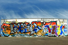 Graffiti and  floor panorama Royalty Free Stock Photo