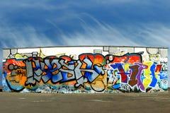 Graffiti and floor panorama royalty free stock photo