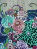 Graffiti floral images libres de droits