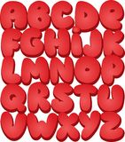 Graffiti font alphabet different letters. Vector Royalty Free Stock Photography