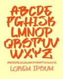 Graffiti font - Hand written - Vector alphabet Stock Photo