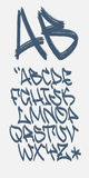 Graffiti font - Marker - Vector alphabet Stock Images