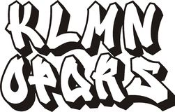 Graffiti font (part 2) Royalty Free Stock Photography
