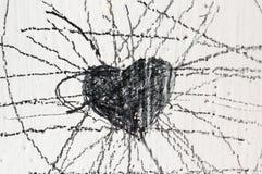 Graffiti a forma di del cuore Fotografia Stock
