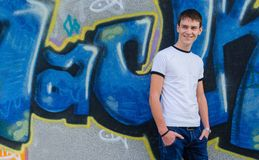 graffiti frontowy mężczyzna Zdjęcie Stock