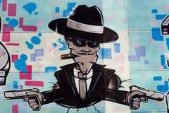 Graffiti Gangster Pistol Stock Photos