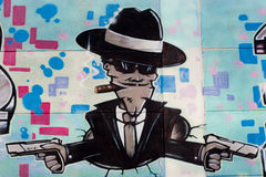 Graffiti-Gangster-Pistole Stockfotos