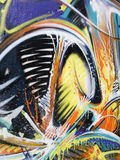 Graffiti gemalte Wand Lizenzfreies Stockbild