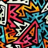 Graffiti geometric seamless pattern Royalty Free Stock Photography