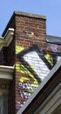 Graffiti-geschilderde muur Royalty-vrije Stock Fotografie