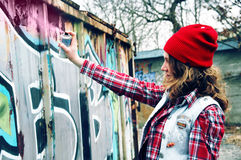Graffiti Girl Stock Images