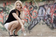 Free Graffiti Girl Royalty Free Stock Photography - 20317007