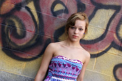 Graffiti Girl Royalty Free Stock Photo
