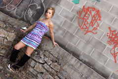 Graffiti Girl Royalty Free Stock Photography