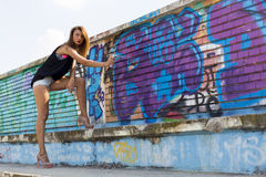 Graffiti girl Stock Photo