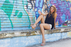 Graffiti girl Stock Photography