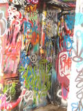 Graffiti Graffito in Melbourne. Graffito in Melbourne,  Australia. 2 or 3 street in  the city are full of graffiti Royalty Free Stock Photo